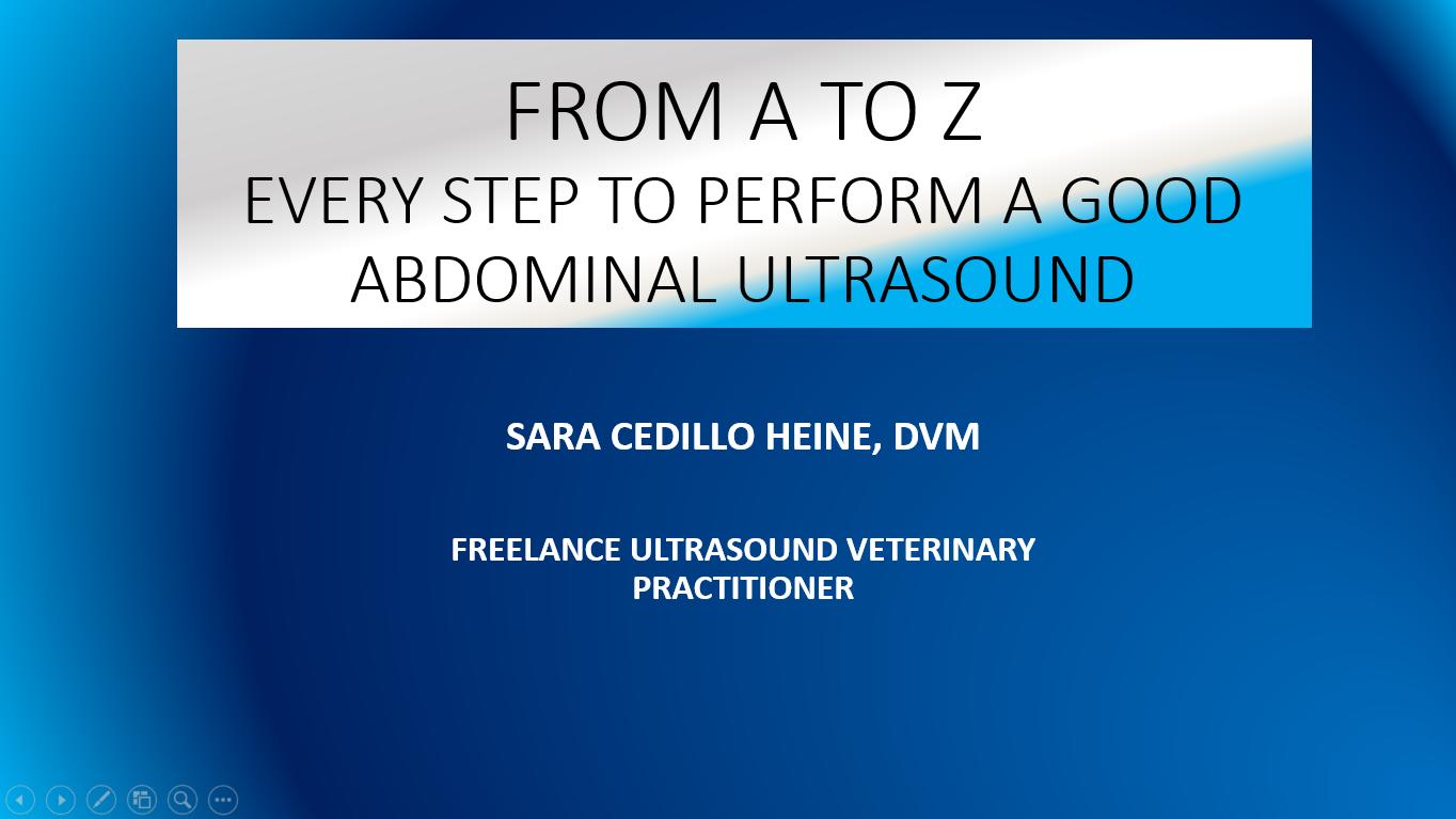 Seminario web de veterinaria de Mindray - Abdomen de la A a la Z