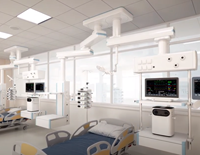 Double Pendants Solution for Double-room ICU