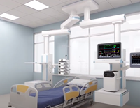 Double Pendants Solution for Single-room ICU.
